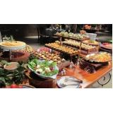 serviço de buffet para festa de casamento Tambaú